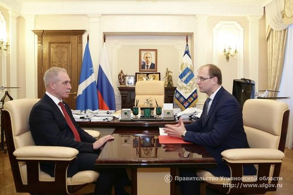 Губернатор Ульяновской области принял доклад председателя регионального правительства