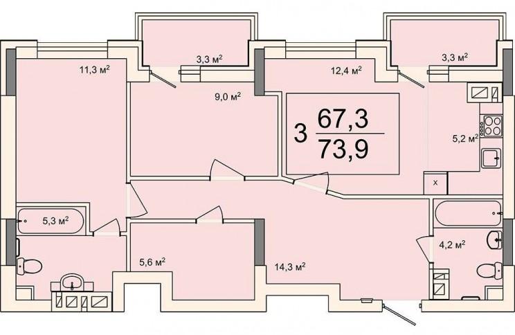 Дом на Минаева, планировка квартир