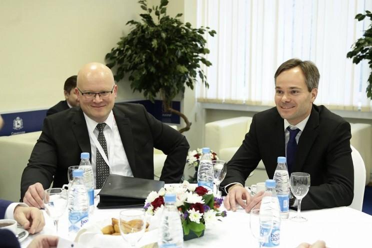 Сергей Морозов рассказал о встрече с министром внешней торговли и развития Финляндии Кайем Мюккяненом на Гайдаровском форуме 2