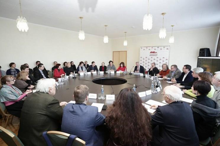 Губернатор Ульяновской области Сергей Морозов встречается с представителями музыкальной общественности, 28 февраля 2018 года