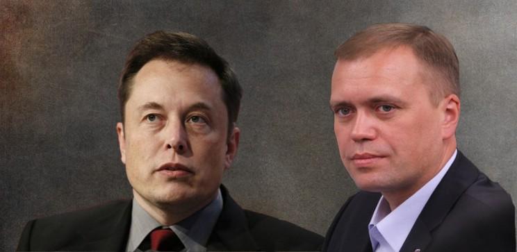 Илон Маск и Дмитрий Травкин.