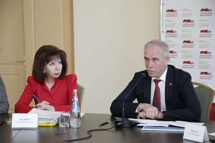 Министр искусства и культурной политики Ульяновской области Ольга Мезина и губернатор Сергей Морозов, 28 февраля 2018 года.