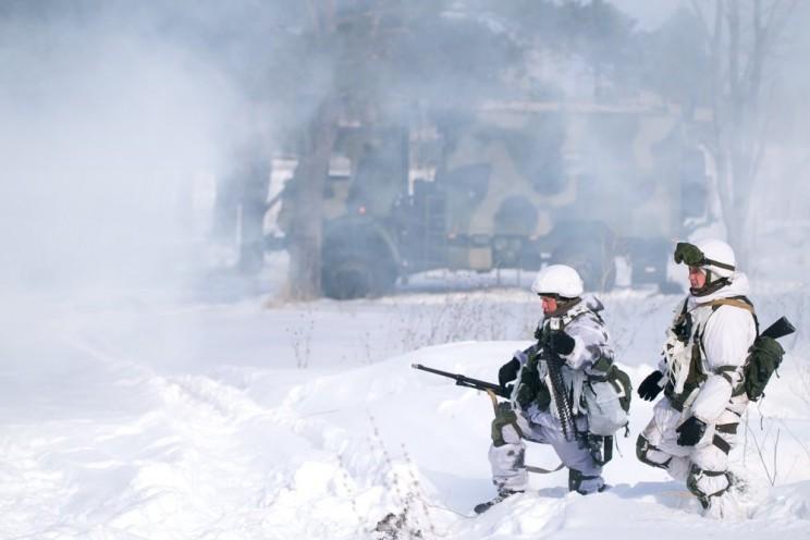 Февральские учения ульяновских десантников с дронами.
