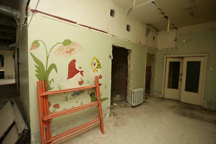 В городской клинической больнице №1 Ульяновска продолжаются масштабные ремонтные работы