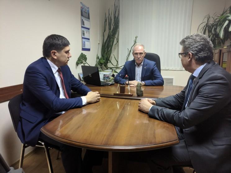Министр здравоохранения Ульяновской области до июня 2017 года Павел Дегтярь, губернатор Ульяновской области Сергей Морозов, министр здравоохранения с июня 2017 года Рашид Абдуллов.