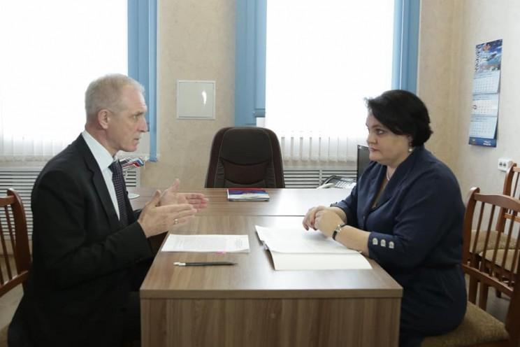 Губернатор Ульяновской области Сергей Морозов и первый заместитель председателя правительства Екатерина Уба.