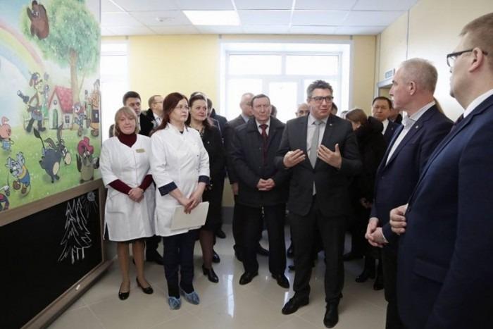 В Новоспасской районной больнице завершены работы по капитальному ремонту здания поликлиники
