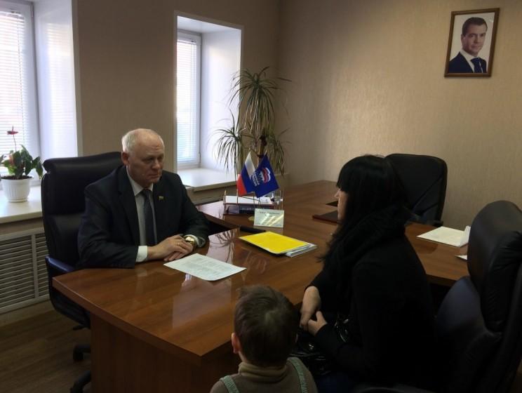 Григорий Балыхин проводит прием