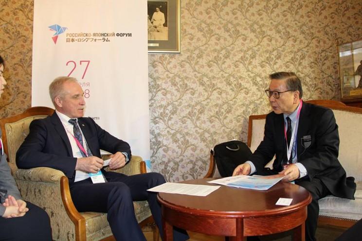 Губернатор Ульяновской области встретился с генеральным секретарем японского бизнес-клуба Цумутоку Ямада , 27 апреля 2018 - 1