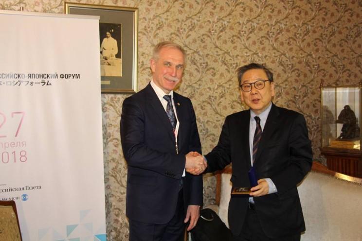 Губернатор Ульяновской области встретился с генеральным секретарем японского бизнес-клуба Цумутоку Ямада , 27 апреля 2018 - 3
