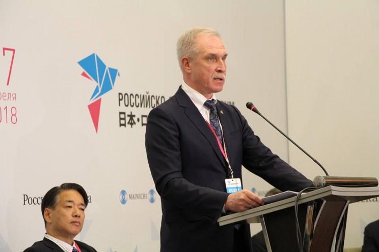 Губернатор Ульяновской области выступил на российско-японском форуме Точки соприкосновения, 27 апреля 2018 года - 1