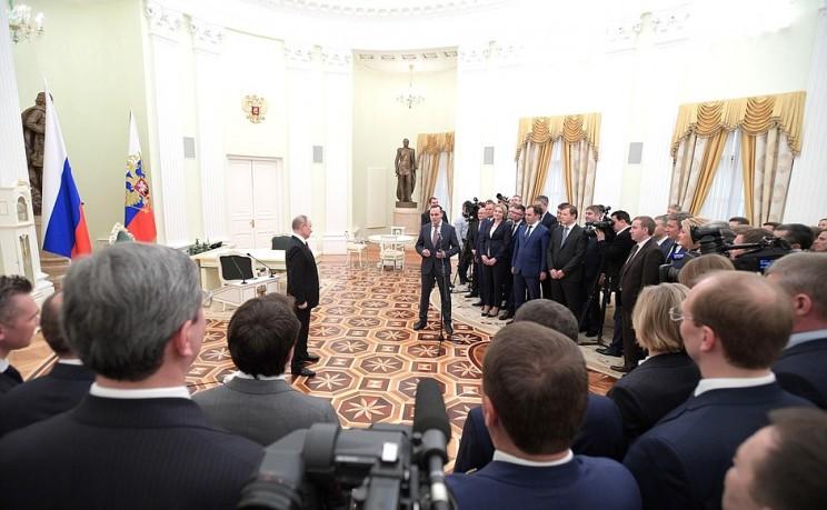 Президент России Владимир Путин встретился выпускниками программы кадрового управленческого резерва, 25 апреля 2018 - 2
