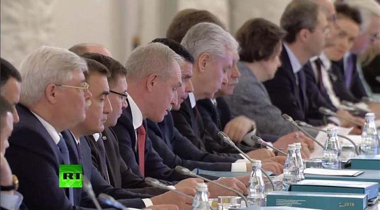 Сергей Морозов на заседании Госсовета 5 апреля 2018 года