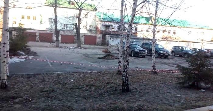 Очередной строительный беспредел на улице Дмитрия Ульянова в самом центре Ульяновска