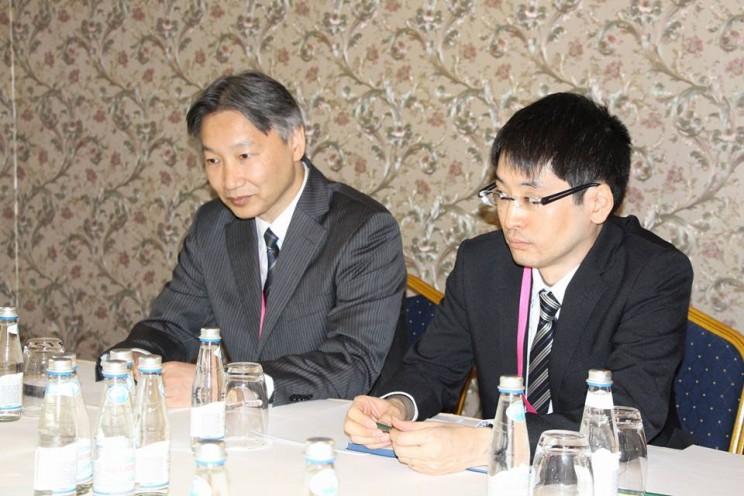 губернатор Сергей Морозов на встрече с главой представительства японской организации по развитию внешней торговли JETRO в Москве Кунихиро Номура, 27 апреля 2018 - 1