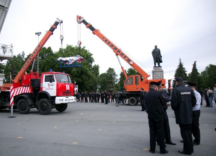 Акция протеста против переименования площади Ленина в Ульяновске - 8