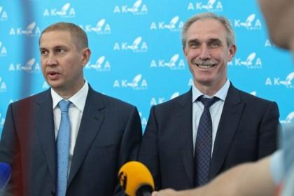 Бизнесмен Дмитрий Рябов и губернатор Ульяновской области Сергей Морозов