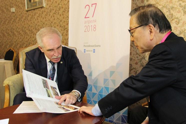 Губернатор Сергей Морозов и генральный секретарь японского бизнес-клуба Цумутоку Ямада