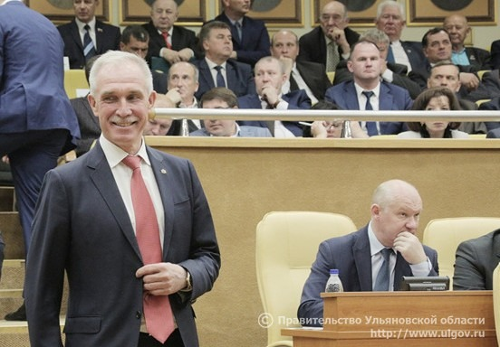 Сергей Морозов выступил с докладом перед депутатами Законодательного собрания Ульяновской области