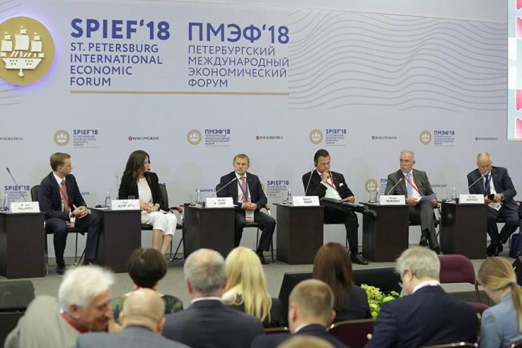 Сергей Морозов на Петербургском международном экономическом форуме, 23 мая 2018 года