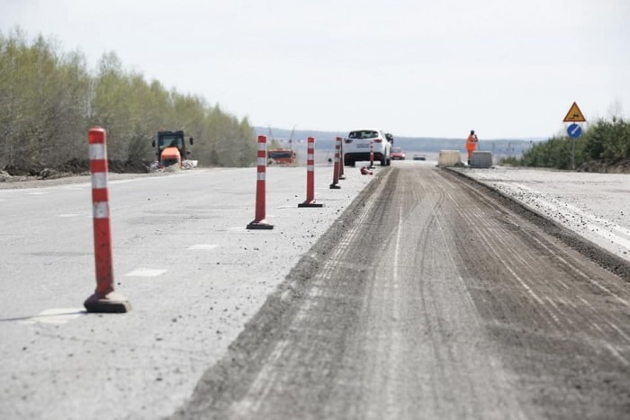 В Тереньгульском районе идет капитальный ремонт участка федеральной трассы «Сызрань-Ульяновск»