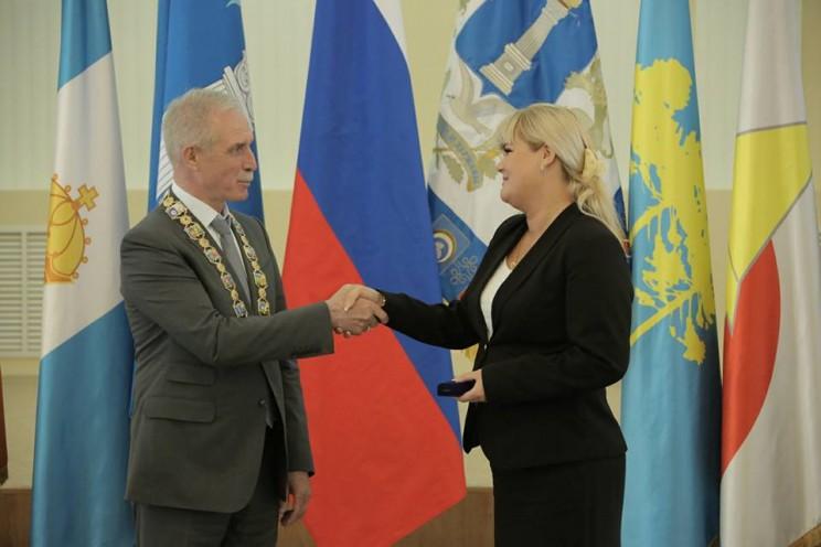 Губернатор Сергей Морозов и министр молодежного развития Ирина Лукьянова