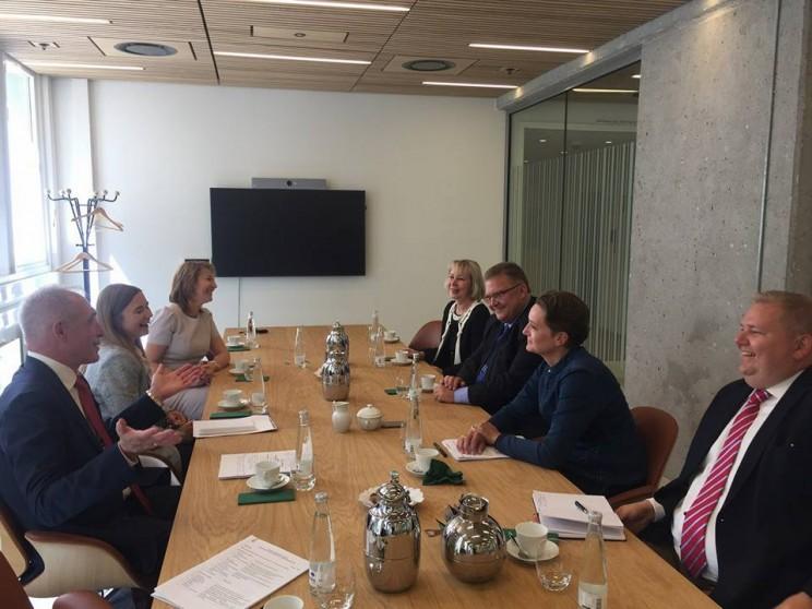 Сергей Морозов рассказал о переговорах с послом Королевства в России Томасом Винклером и представителями министерства экономики Дании, 8 июня 2018 - 2