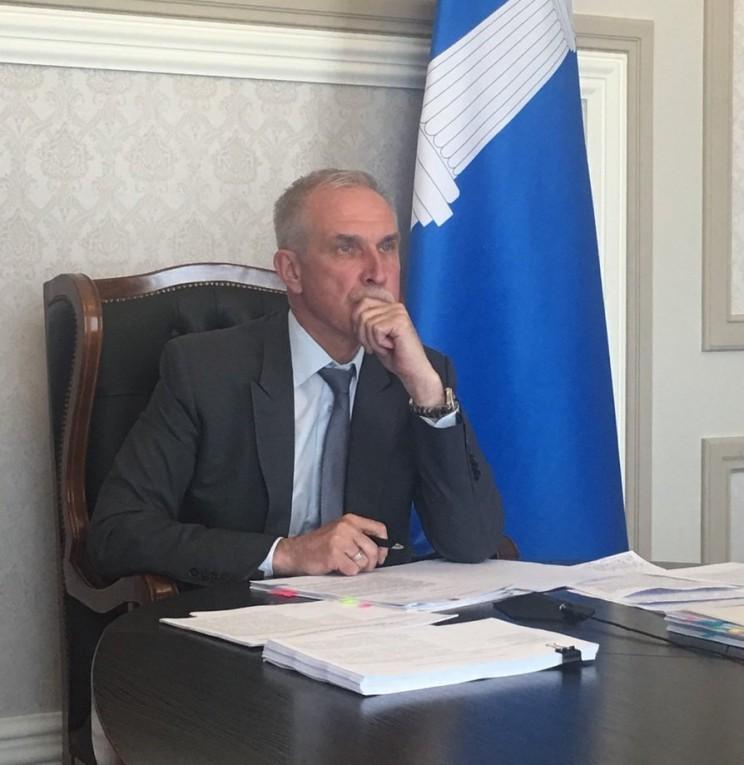Сергей Морозов во время прямой линии Владимира Путина - 2018, 7 июня 2018 - 1