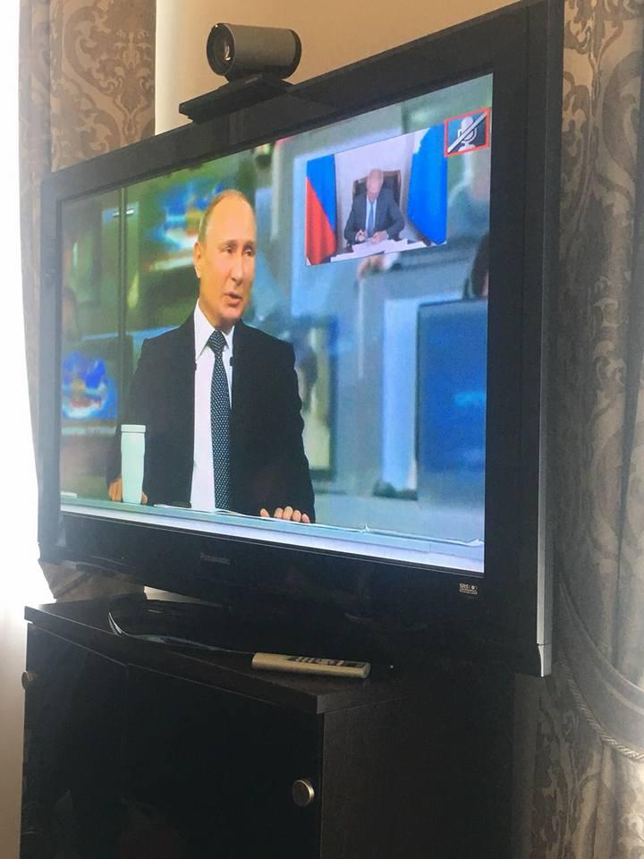 Сергей Морозов во время прямой линии Владимира Путина - 2018, 7 июня 2018 - 2
