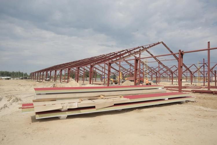 В Новоспасском районе Ульяновской области продолжается строительство животноводческого комплекса