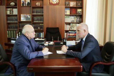 Анатолий Бакаев и Сергей Морозов обсудили работу Законодательного собрания Ульяновской области