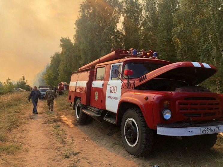 Лесной пожар возник в Ульяновской области на площади около 2-3 га
