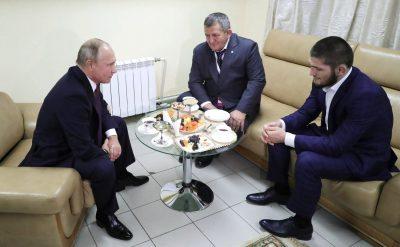 Владимир Путин Хабибу Нурмагомедову: «Буду просить твоего папу, чтобы он нестрого тебя наказывал»